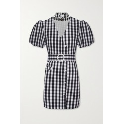 De La Vali - Mila Belted Gingham Cotton-blend Mini Dress - Black found on MODAPINS from NET-A-PORTER UK for USD $561.87