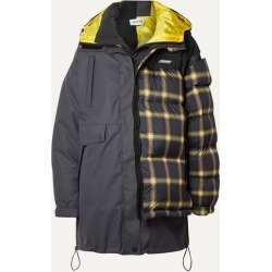 Monse - Layered Paneled Checked Shell And Ripstop Down Coat - Gray found on MODAPINS from NET-A-PORTER for USD $1197.00