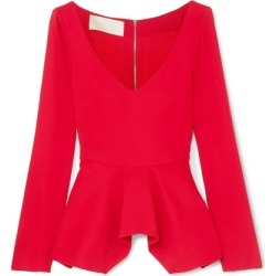 Antonio Berardi - Stretch-cady Peplum Top - Red found on MODAPINS from NET-A-PORTER for USD $815.00