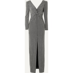Rachel Zoe - Nava Twist-front Open-back Ribbed Lurex Maxi Dress - Black found on MODAPINS from NET-A-PORTER UK for USD $440.61