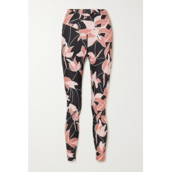 Beach Riot - Cara Floral-print Stretch Leggings - Black found on MODAPINS from NET-A-PORTER for USD $98.00