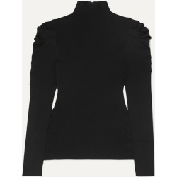 Alice Olivia - Cece Ribbed-knit Turtleneck Sweater - Black found on MODAPINS from NET-A-PORTER for USD $245.00