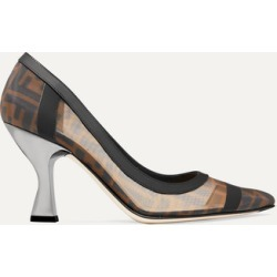 Fendi - Colibrì Logo-print Mesh And Leather Pumps - Brown found on Bargain Bro Philippines from NET-A-PORTER for $850.00