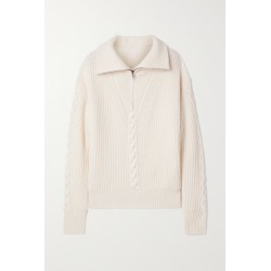 Nili Lotan - Angela Cable-knit Cashmere Sweater - Ivory found on MODAPINS from NET-A-PORTER UK for USD $969.44