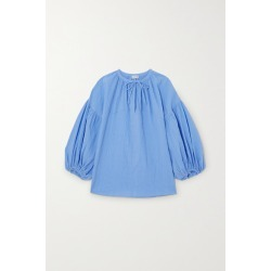 By Malene Birger - Net Sustain Kyra Crinkled-organic Cotton Top - Blue found on Bargain Bro India from NET-A-PORTER for $340.00