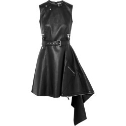 Alexander McQueen - Asymmetric Textured-leather Mini Dress - Black found on MODAPINS from NET-A-PORTER UK for USD $4148.07