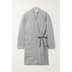 SKIN - Stormie Quilted Mélange Cotton-jersey Robe - Gray found on Bargain Bro India from NET-A-PORTER for $170.00