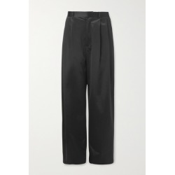 Dodo Bar Or - Coco Pleated Satin Wide-leg Pants - Black found on MODAPINS from NET-A-PORTER for USD $585.00