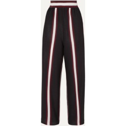 Golden Goose - Sophie Striped Lurex Wide-leg Pants - Navy found on Bargain Bro UK from NET-A-PORTER UK