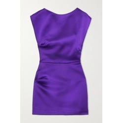 Georgia Alice - Lily Gathered Satin Mini Dress - Purple found on MODAPINS from NET-A-PORTER for USD $630.00