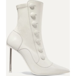 Alexander McQueen - Embellished Leather Ankle Boots - Ivory found on MODAPINS from NET-A-PORTER UK for USD $1122.59