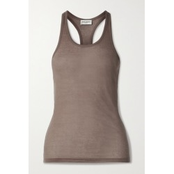SAINT LAURENT - Cotton-jersey Tank - Taupe found on Bargain Bro UK from NET-A-PORTER UK
