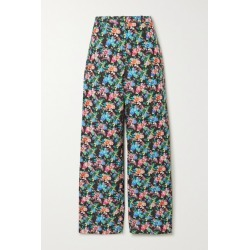 Paco Rabanne - Floral-print Cotton-blend Straight-leg Pants - Black found on MODAPINS from NET-A-PORTER UK for USD $331.90