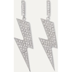 Isabel Marant - Flash Silver-tone Crystal Earrings - one size found on Bargain Bro UK from NET-A-PORTER UK
