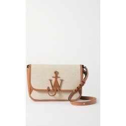 JW Anderson - Braided Midi Anchor Leather-trimmed Canvas Shoulder Bag - Beige found on MODAPINS from NET-A-PORTER UK for USD $744.82