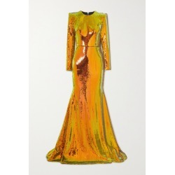 Alex Perry - Prescott Sequined Tulle Gown - Orange found on MODAPINS from NET-A-PORTER for USD $1280.00