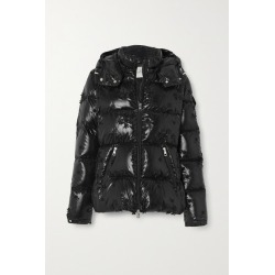 Moncler Genius - +4 Simone Rocha Callitris Appliquéd Hooded Quilted Glossed-shell Down Jacket - Black found on MODAPINS from NET-A-PORTER UK for USD $2216.87