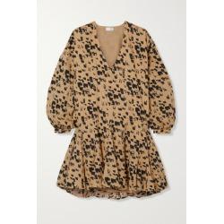 Anine Bing - Peyton Printed Cotton-poplin Mini Dress - Yellow found on MODAPINS from NET-A-PORTER for USD $300.00