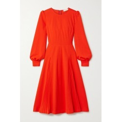 Tory Burch - Pleated Crepe Dress - Tomato red found on Bargain Bro UK from NET-A-PORTER UK