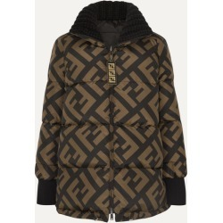 Fendi - Reversible Wool Blend-trimmed Printed Quilted Down Ski Jacket - Black found on Bargain Bro Philippines from NET-A-PORTER for $2890.00