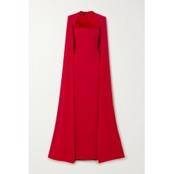 Alex Perry - Laurel Cape-effect Crepe Gown - Red found on MODAPINS from NET-A-PORTER for USD $3200.00