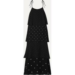 Anine Bing - Daisy Tiered Polka-dot Chiffon Maxi Dress - Black found on MODAPINS from NET-A-PORTER for USD $350.00