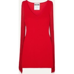 Moschino - Fringed Stretch-jersey Mini Dress - Red found on Bargain Bro Philippines from NET-A-PORTER for $380.00