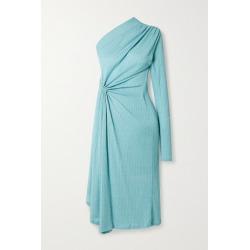 Dodo Bar Or - Hannah One-sleeve Draped Ribbed Stretch-knit Midi Dress - Sky blue found on MODAPINS from NET-A-PORTER for USD $675.00