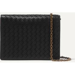 Bottega Veneta - Intrecciato Leather Shoulder Bag - Black found on Bargain Bro UK from NET-A-PORTER UK