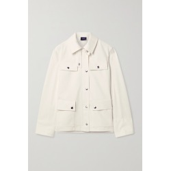 Akris - Finn Leather-trimmed Denim Jacket - Ivory found on MODAPINS from NET-A-PORTER for USD $995.00