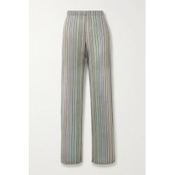Beaufille - Copland Striped Stretch Jacquard-knit Flared Pants - Blue found on MODAPINS from NET-A-PORTER UK for USD $247.99