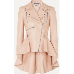 Alexander McQueen - Leather Peplum Biker Jacket - Pink found on MODAPINS from NET-A-PORTER UK for USD $4714.58