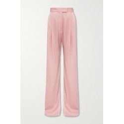 Alex Perry - Hartley Pleated Satin-crepe Wide-leg Pants - Blush found on MODAPINS from NET-A-PORTER for USD $1200.00