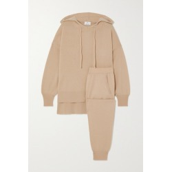 Allude - Cashmere Hoodie And Track Pants Set - Tan found on MODAPINS from NET-A-PORTER for USD $1130.00