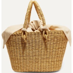 Muuñ - Claudia Mini Straw Tote - Beige found on MODAPINS from NET-A-PORTER UK for USD $177.90