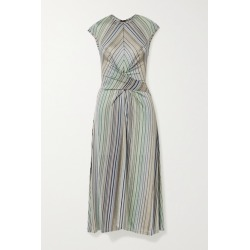 Beaufille - Chagall Twist-front Striped Stretch Jacquard-knit Midi Dress - Blue found on MODAPINS from NET-A-PORTER for USD $297.00