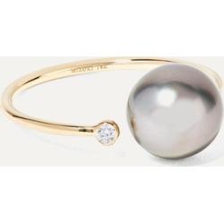 Mizuki - 14-karat Gold, Pearl And Diamond Ring