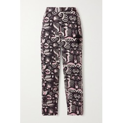 Figue - Zulu Printed Cotton-twill Tapered Pants - Black found on MODAPINS from NET-A-PORTER UK for USD $425.71