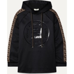 Fendi - Fendirama Printed Jacquard-trimmed Satin-jersey Hoodie - Black found on Bargain Bro Philippines from NET-A-PORTER for $890.00