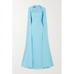 Alex Perry - Mia Cape-effect Crepe Gown - Sky blue found on MODAPINS from NET-A-PORTER UK for USD $2087.57