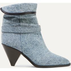 Isabel Marant - Luam Leather-trimmed Denim Ankle Boots - Blue found on Bargain Bro UK from NET-A-PORTER UK