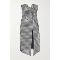 David Koma - Embellished Strapless Houndstooth Cotton And Wool-blend Midi Dress - Black found on MODAPINS from NET-A-PORTER UK for USD $1723.16