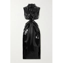 SAINT LAURENT - Knotted Cutout Latex Dress + Latex Care Cleaning Kit 3 X 30ml Bottles (vividress, Vivishine, Viviclean) - Black found on Bargain Bro UK from NET-A-PORTER UK