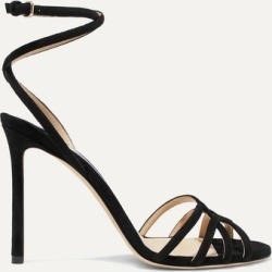 Jimmy Choo - Mimi 100 Suede Sandals - Black found on Bargain Bro UK from NET-A-PORTER UK