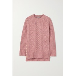 Alex Mill - Oversized Cable-knit Merino Wool-blend Sweater - Pink found on MODAPINS from NET-A-PORTER for USD $160.00