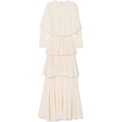 Antonio Berardi - Tiered Plissé-crepe De Chine Gown - White found on MODAPINS from NET-A-PORTER UK for USD $1874.30