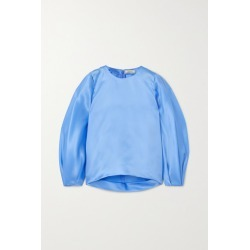 Nina Ricci - Silk-satin Blouse - Blue found on MODAPINS from NET-A-PORTER UK for USD $923.28