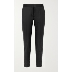 Stella McCartney - Vivian Zip-detailed Wool-twill Straight-leg Pants - Black found on Bargain Bro UK from NET-A-PORTER UK