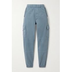 J Brand - Eugene Cropped Cotton-blend Twill Cargo Pants - Blue found on Bargain Bro Philippines from NET-A-PORTER for $260.00
