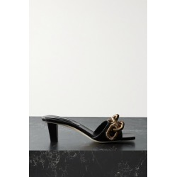 Serena Uziyel - Catena Embellished Leather Mules - Black found on MODAPINS from NET-A-PORTER UK for USD $651.15